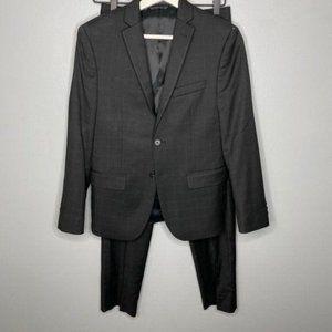 Lauren Black Plaid Boys Suit